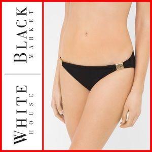 White House Black Market Gathered Bikini Bottom